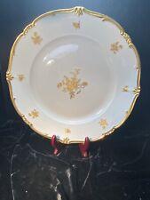 Assiettes à soupe D 25,1 cm Weimar porcelaine Catherine Litière fleurs