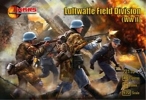 WWII Luftwaffe Field Division Infantry MADE RUSSIA MARS MINIATURES 1:72