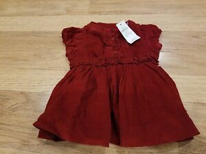 Baby Toddler Girls Red Corduroy Flower Dress and Tight Long Sleeve 18 24 Months