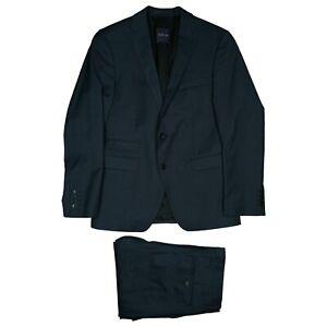 BENVENUTO purple Herren Anzug Sakko Blazer Jacke Hose Gr.46 glanz blau TOP