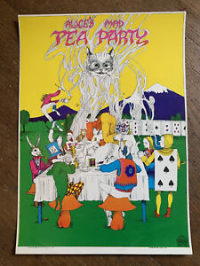 Greg-Irons-034-Alice-039-s-Mad-Tea-Party-034-Poster-ORIGINAL-Psychedelic-Poster-1967