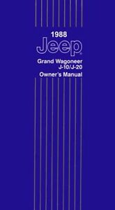 1988 jeep grand wagoneer j10 j20 owners manual guide reference rh ebay com