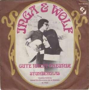 Inga-amp-Wolf-Gute-Nacht-Freunde-7-034-Single-Mono-Vinyl-Schallplatte-1885