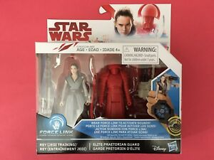 /& Elite Praetorian Guard Jedi Training 2017 Disney Hasbro SW Force Link Rey
