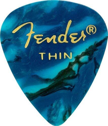 Fender 351 Premium THIN Guitar Picks 144 Count Turquoise Ocean Moto 0982351108