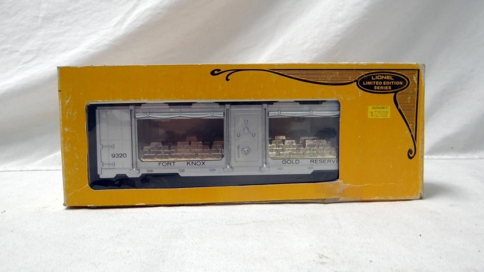 PAIR VINTAGE 1979 LIONEL 6-9320 LIMITED EDITION oro BULLION FREIGHT CARS IN BOX