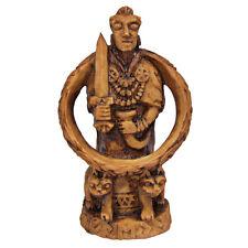 Freya Figurine - Wood Finish - Norse Goddess of Love Viking Statue Dryad Design