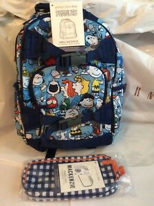 Pottery Barn Kid Peanuts Snoopy Backpack Pencil Zip Case