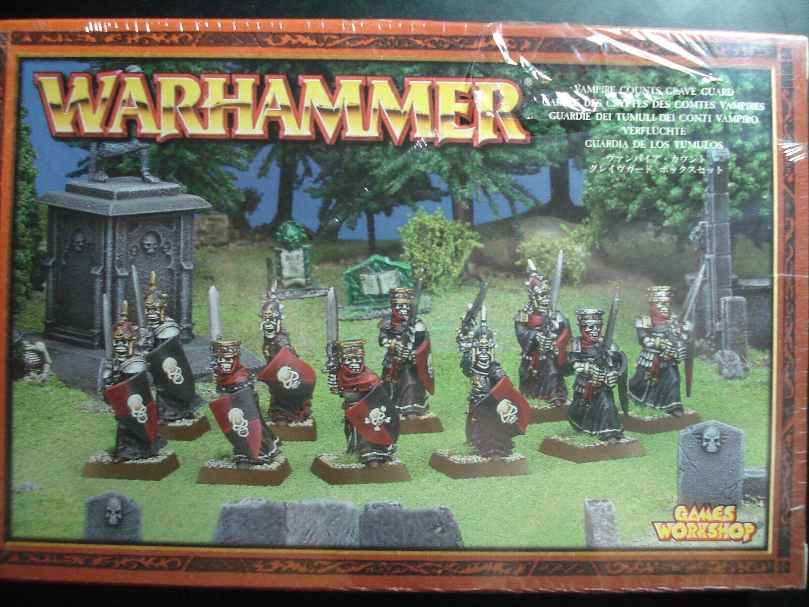 Warhammer Age of Sigmar Vampire Counts Counts Counts Grave Guard Metal New Sealed NIB OOP df53e0