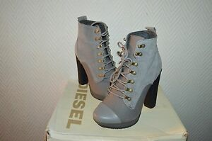 CHAUSSURE-BOTTES-BOTTINES-CUIR-DIESEL-TAILLE-41-BOOTS-BOTAS-STIVALI-NEUF