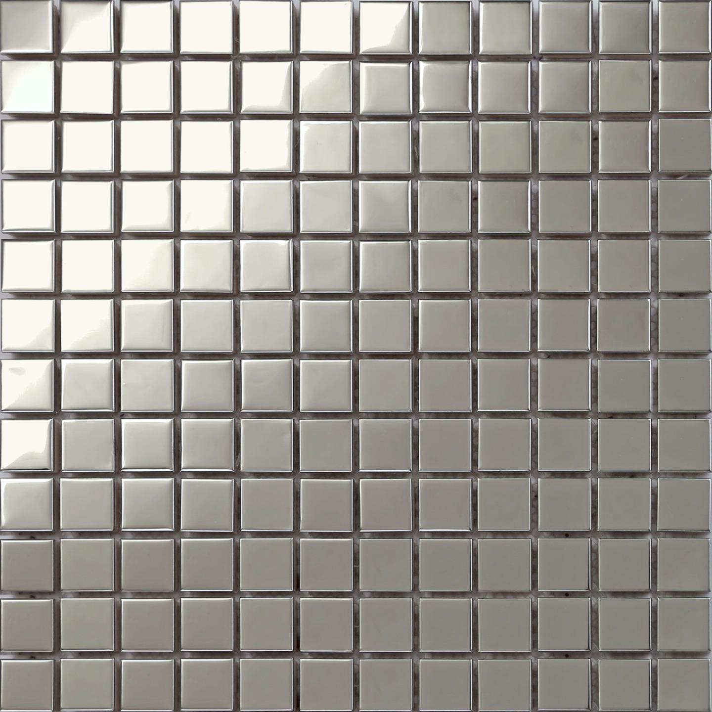 1 SQ M Polished Stainless Steel Mosaic Tiles Sheet 300x300x8mm (MT0130)