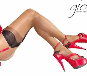 86c498512 GIO Full Contrast Bicolor non-stretch RHT Stockings Nylons Hosiery ...