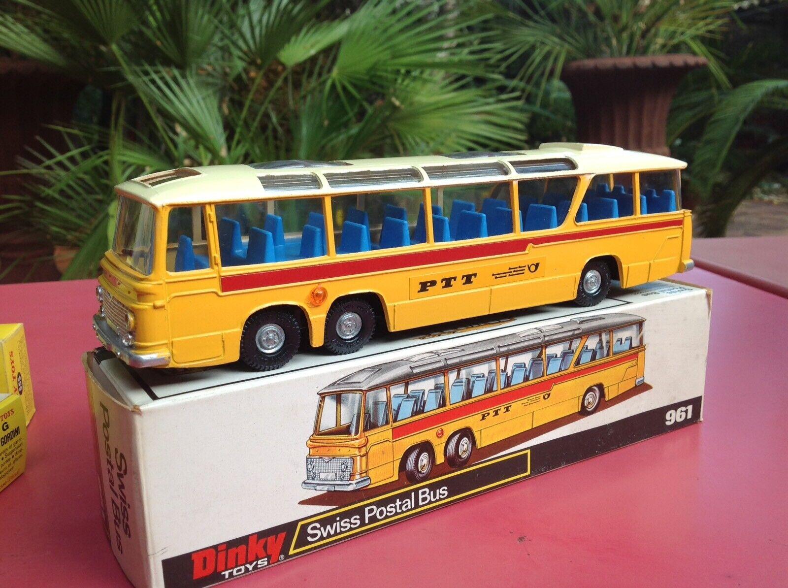 Dinky giocattoli Réf 961 Swiss Postal autobus Vega major Autoauto PTT  Mint in original scatola
