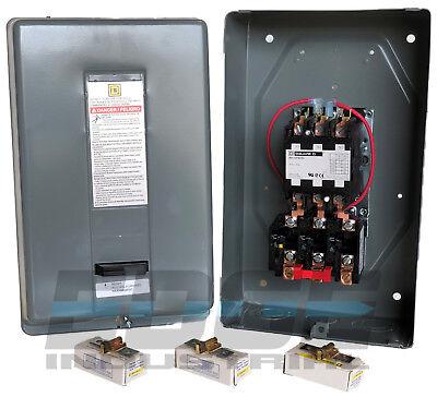 SQUARE D ELECTRIC MAGNETIC MOTOR STARTER CONTROL 15HP 50A 3PH 230V 8911DPSG53V09