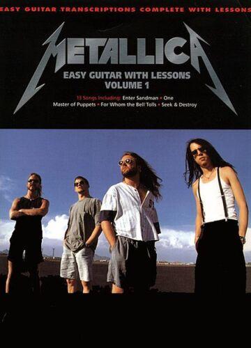 EASY GUITAR LESSONS TAB SONG BOOK VOLUME 1 METALLICA