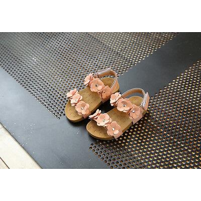 Toddler Kids Children Baby Girl Sandals Floral Sole Princess Sandals Shoes Beach