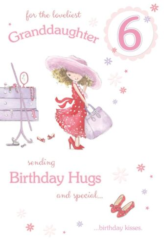 Item 4 GRANDDAUGHTER 6th BIRTHDAY CARD AGE 6 QUALITY WITH BEAUTIFUL VERSE