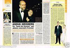 Coupure de presse  Clipping 1996 Anouk Grinberg