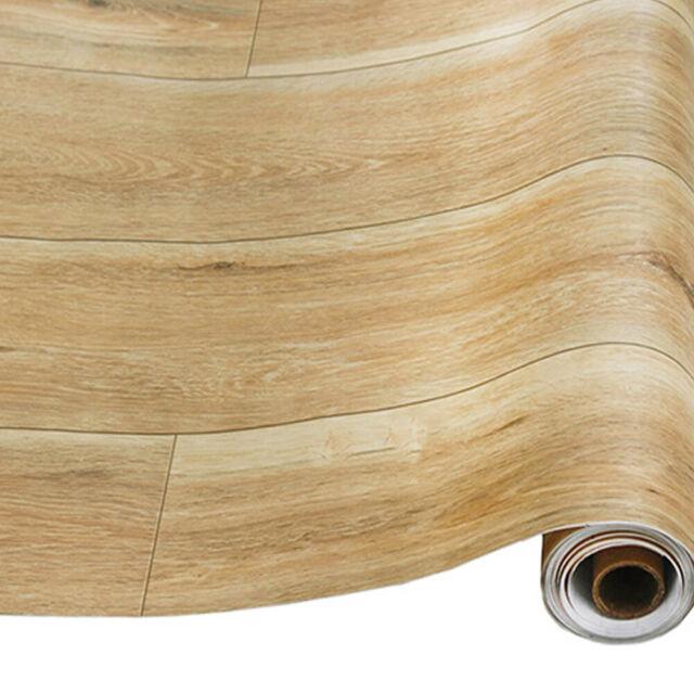 Wood Plank Wallpaper Roll Sheet Peel Stick Wall Furniture Vinyl Cover Sticker For Sale Online Ebay