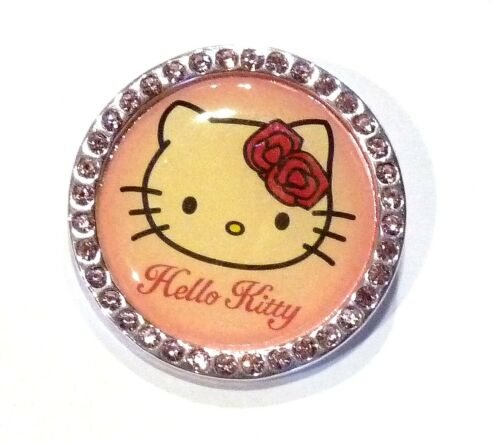 Bijou enfant Sanrio Hello Kitty broche strass rose