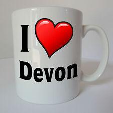 I Love Heart Devon Mug Gift Present Birthday Christmas Holiday Souvenir Exeter