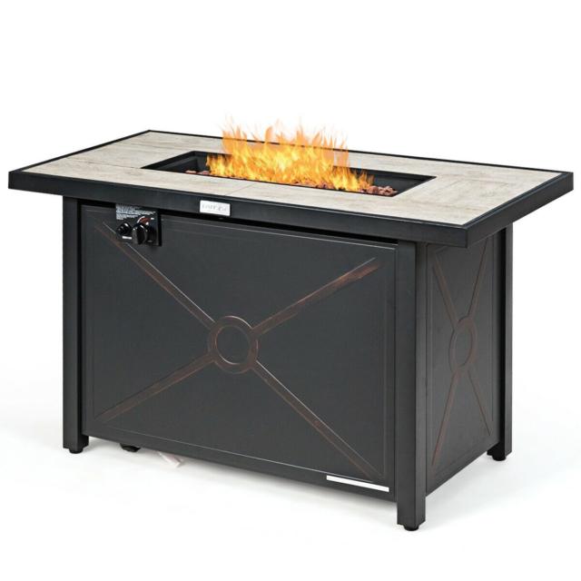 Real Flame Sedona 52 Rectangle 65 000 Btu Patio Deck Lp Propane Fire Pit For Sale Online Ebay