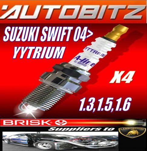 FITS SUZUKI SWIFT 1.3 1.5 1.6 2005/> BRISK SPARK PLUGS X4 YYTRIUM FAST DISPATCH