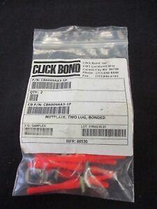 Click-Bond-CB6009AA3-1P-CB6010ACR3-2P-CB6014CR4-1P-Unused-Nut-Plate-QTY-9