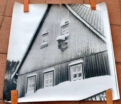 Genial Ddr Plakat Poster | Haus Im Winter | 98 X 98 Cm Original Harz Erzgebirge Wald Preisnachlass