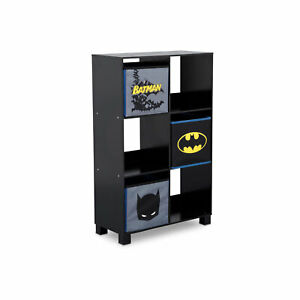 Delta-Children-TB83421BT-1200-Batman-6-Cubby-Deluxe-Kids-Storage-Unit-Black