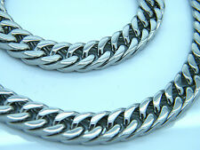 LARGE HEAVY LINK CHAIN STAINLESS STEEL  MEN'S CHUNKY NECKLACE