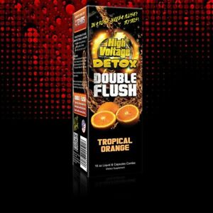 16-Oz-HIGH-VOLTAGE-DOUBLE-FLUSH-TROPICAL-ORANGE-Detox-Cleanser-DRINK-W-CAPSULES