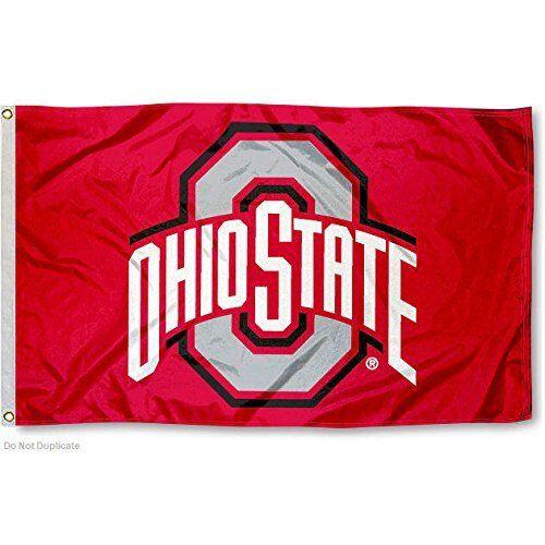 RED OHIO STATE BUCKEYES FLAG 3/'X5/' OSU OHIO STATE UNIVERSITY FREE SHIPPING