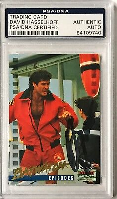 Diplomatic 1995 Sports Time Baywatch David Hasselhoff Signed Auto Card b Psa/dna Professional Design