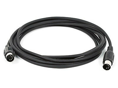 Monoprice 8533 10ft MIDI Cable with 5 Pin DIN Plugs - Black