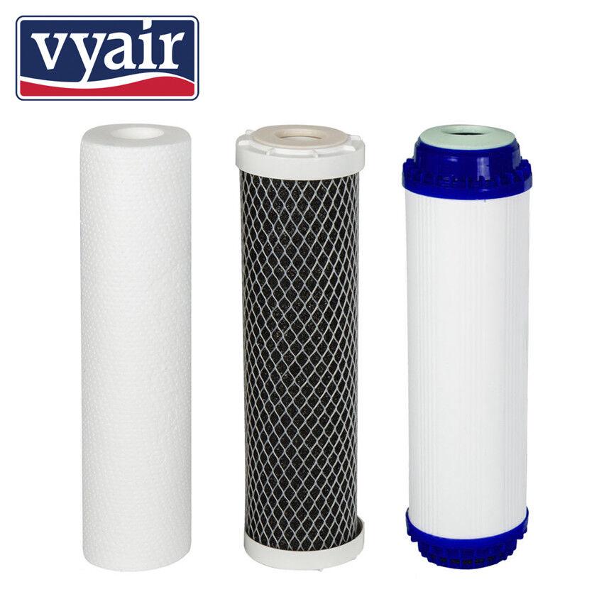 Set di 3 prefiltri per Vyair RO6400 Osmosi Inversa depuratore sistema