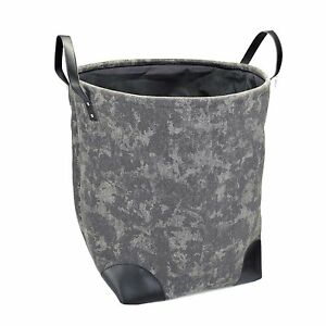 Dalix Washed Dyed Canvas Laundry Tote Hamper Sturdy