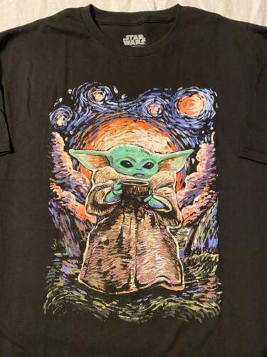 The MANDALORIAN Baby YODA Fett THE CHILD Van Gogh DISNEY movie New MEN/'S T-Shirt