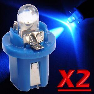 2 LED T5 B8.5D SMD BLU Lampade Per Cruscotto Quadro Strumenti Luci Lampadine 12V