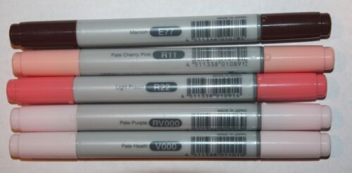 5 Copic CIAO Markers PALE PINKS Set