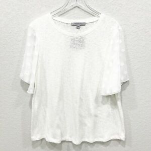 Marc-New-York-Andrew-Marc-Womens-Knit-Blouse-Top-Flutter-Chiffon-Sleeve-Ivory