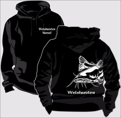 Pullover & Sweaters Sweatshirt Kapuzenpullover Hoody Angler Welsangeln Wallerhunter Hobby Verein 130