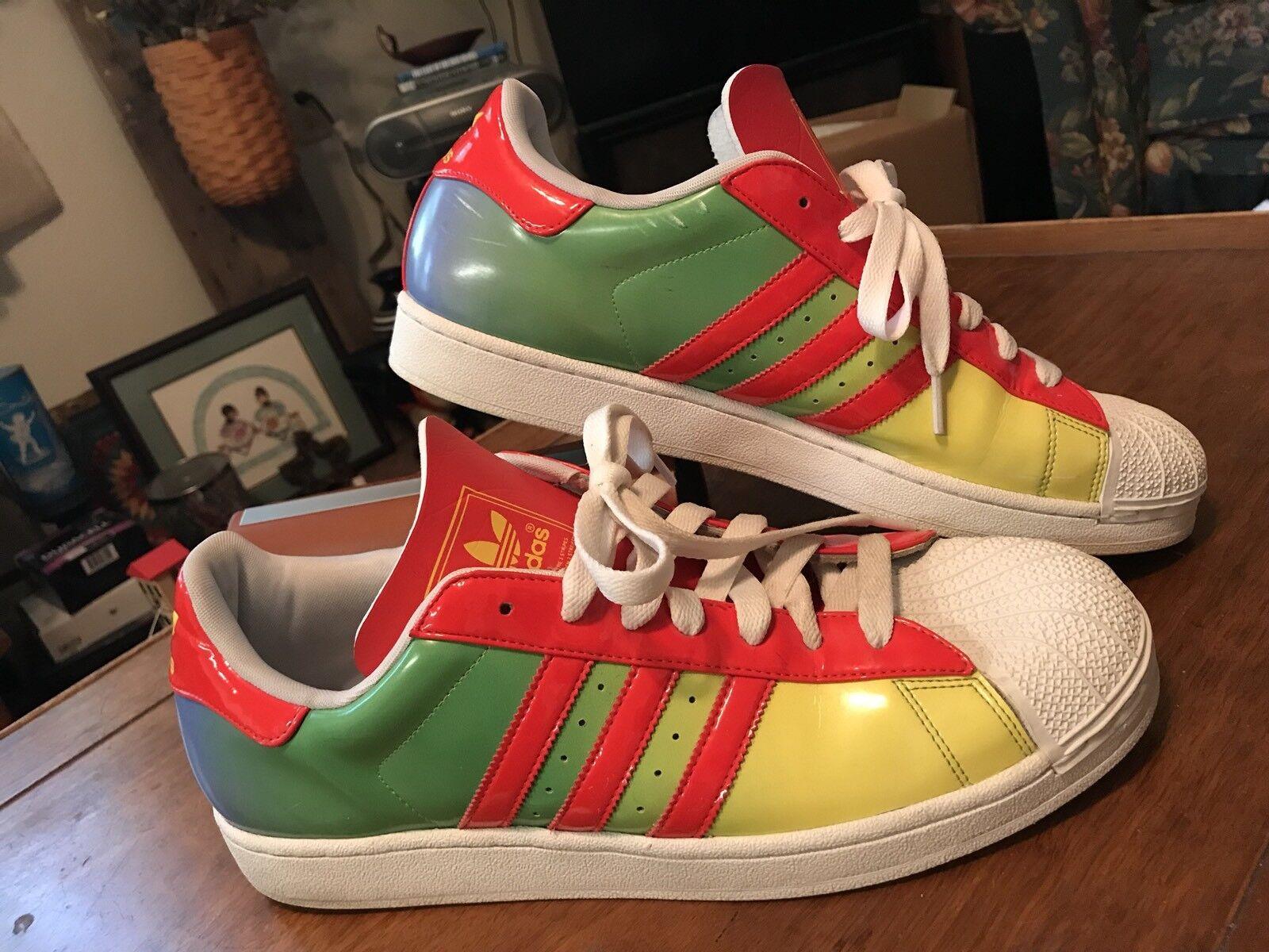 Gli taglia uomini  adidas raro orgoglio superstar arcobaleno scarpe taglia Gli 13 lgbtq ltd edition fa5d55