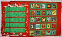 Advent Calendar Fabric Panel Tis the Season Christmas II Fabri-Quilt Suzie Q