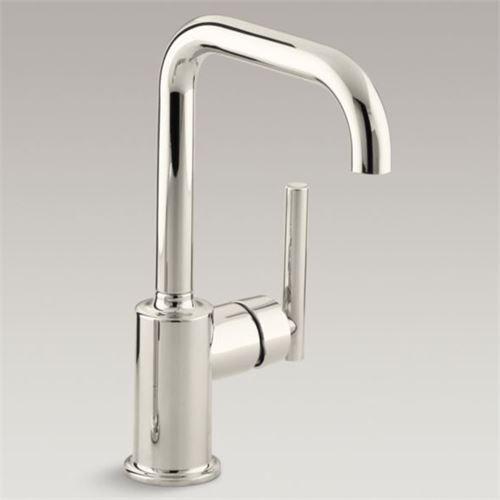 Kohler Purist K 7509 Sn Polished Nickel Secondary Swing Spout Kitchen Faucet