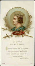 antico santino cromo-holy card S.LUIGI RE DI FRANCIA