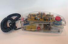 Vintage Radio Shack 80s Clear Neon Rainbow Push Button Desk Telephone