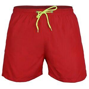 Homme Rvx Loisir Swim Swimming Water Sports Shorts Nouvelle Doublure En Maille Rouge-afficher Le Titre D'origine De Haute Qualité Et Peu CoûTeux