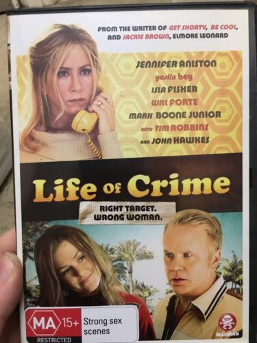 1 of 1 - Life Of Crime ex-rental region 4 DVD (2013 Jennifer Aniston comedy movie) cheap