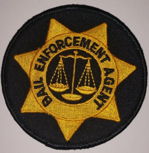 PATCH BEA  Marshal style Scales of Justice  2.75 inches unisex cotton blend